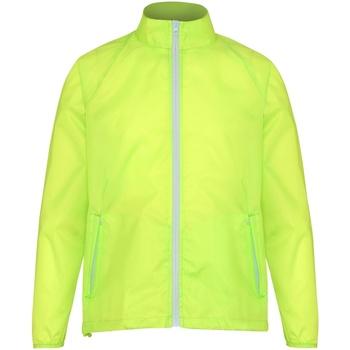 Textiel Heren Windjacken 2786  Geel/wit