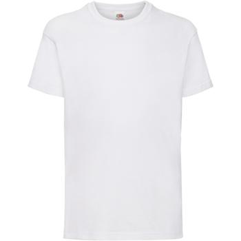 Textiel Kinderen T-shirts korte mouwen Fruit Of The Loom 61033 Wit