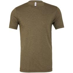 Textiel Heren T-shirts korte mouwen Bella + Canvas Triblend Olijf Triblend