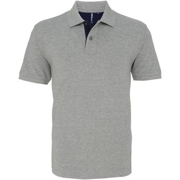 Textiel Heren Polo's korte mouwen Asquith & Fox Contrast Heide/Marine