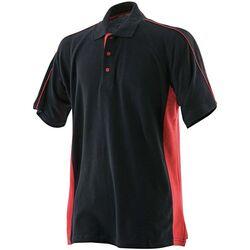 Textiel Heren Polo's korte mouwen Finden & Hales LV322 Zwart/Rood