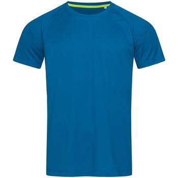 Textiel Heren T-shirts korte mouwen Stedman Active Blauw