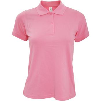 Textiel Dames Polo's korte mouwen B And C Safran Pixel Roze