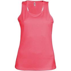 Textiel Dames Mouwloze tops Kariban Proact Proact Fluorescerend Roze