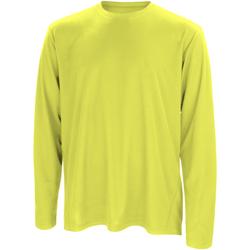 Textiel Heren T-shirts met lange mouwen Spiro Performance Kalk groen