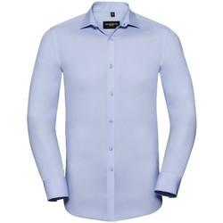 Textiel Heren Overhemden lange mouwen Russell Stretch Heldere lucht