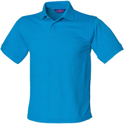 Textiel Heren Polo's korte mouwen Henbury Pique Saffierblauw