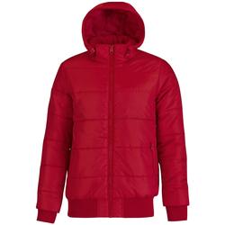 Textiel Heren Dons gevoerde jassen B And C Bomber Rood/ Zwart