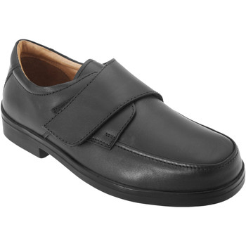 Schoenen Heren Derby Roamers Wide Fit Zwart