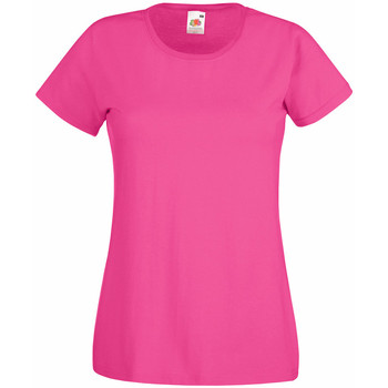 Textiel Dames T-shirts korte mouwen Universal Textiles Casual Heet Roze