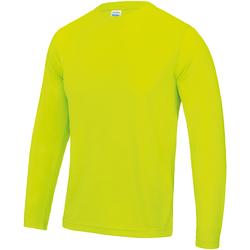 Textiel Heren T-shirts met lange mouwen Just Cool Performance Elektrisch Geel