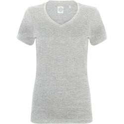 Textiel Dames T-shirts korte mouwen Skinni Fit SK122 Heide Grijs