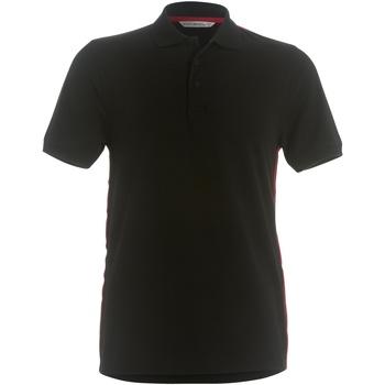Textiel Heren Polo's korte mouwen Kustom Kit Slim Fit Zwart / Rood