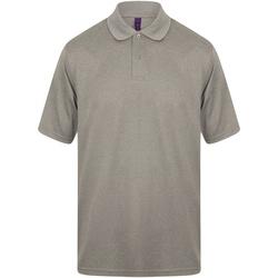 Textiel Heren Polo's korte mouwen Henbury Pique Heide Grijs