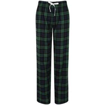 Textiel Dames Pyjama's / nachthemden Skinni Fit Tartan Navy/Groene controle
