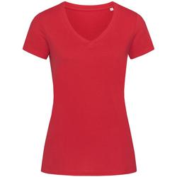 Textiel Dames T-shirts korte mouwen Stedman Stars Janet Rood