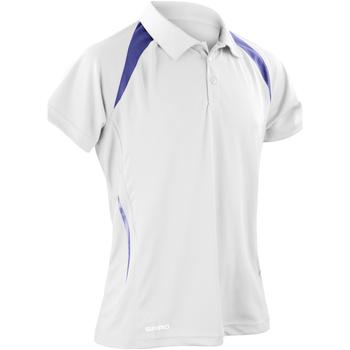 Textiel Heren Polo's korte mouwen Spiro Performance Wit/Zwaar
