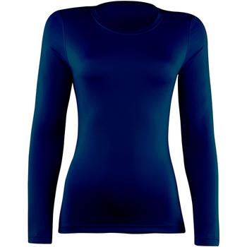 Textiel Dames T-shirts met lange mouwen Rhino RH003 Marine