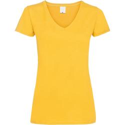 Textiel Dames T-shirts korte mouwen Universal Textiles Value Goud