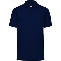 Textiel Heren Polo's korte mouwen Fruit Of The Loom Pique Donker Marine