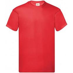 Textiel Heren T-shirts korte mouwen Fruit Of The Loom Original Fel Rood
