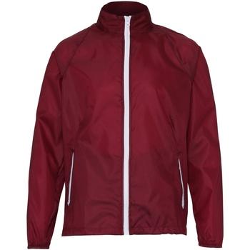 Textiel Heren Windjacken 2786  Bourgogne/Wit