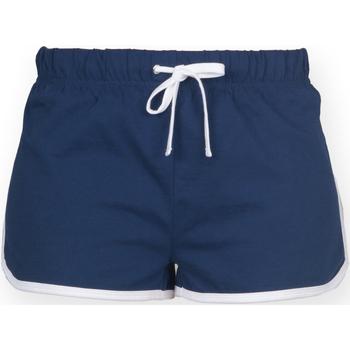Textiel Dames Korte broeken / Bermuda's Skinni Fit Retro Marine / Wit
