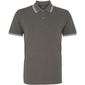 Textiel Heren Polo's korte mouwen Asquith & Fox AQ011 Houtskool/Wit