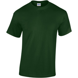 Textiel Heren T-shirts korte mouwen Gildan Heavy Bosgroen