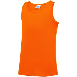 Textiel Kinderen Mouwloze tops Awdis JC07J Elektrisch Oranje