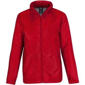 Textiel Heren Windjacken B And C Active Rood/ Warm Grijs