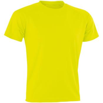 Textiel Heren T-shirts korte mouwen Spiro Aircool Flo Geel