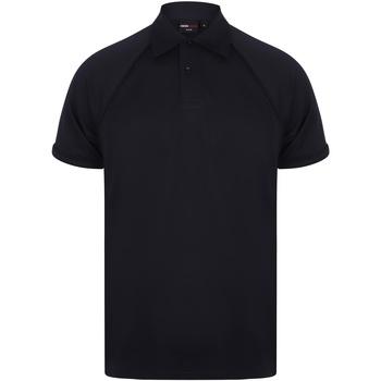 Textiel Heren Polo's korte mouwen Finden & Hales Piped Marine/Navy