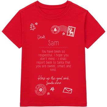 Textiel Kinderen T-shirts korte mouwen Christmas Shop Christmas Rood