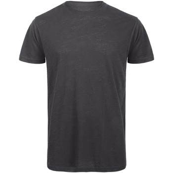 Textiel Heren T-shirts korte mouwen B And C Organic Chique antraciet