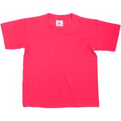 Textiel Kinderen T-shirts korte mouwen B And C Exact 150 Fuchsia