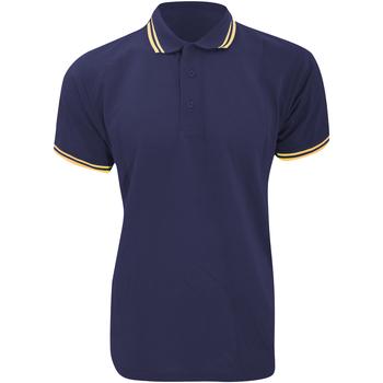 Textiel Heren Polo's korte mouwen Kustom Kit KK409 Marine / Zonnegeel