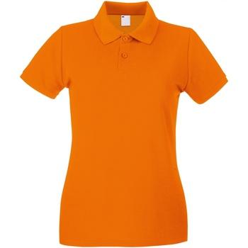 Textiel Dames Polo's korte mouwen Universal Textiles Casual Helder oranje