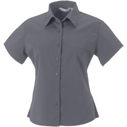 Textiel Dames Overhemden Russell Classic Zink