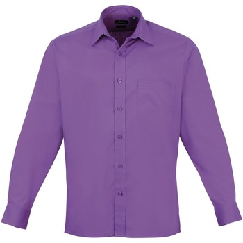 Textiel Heren Overhemden lange mouwen Premier Poplin Rijke Violet