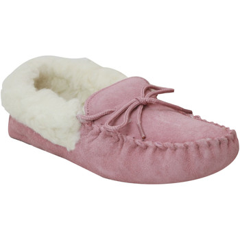 Schoenen Dames Sloffen Eastern Counties Leather Moccasin Roze