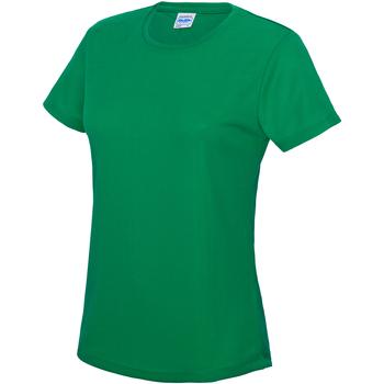 Textiel Dames T-shirts korte mouwen Just Cool JC005 Kelly Groen