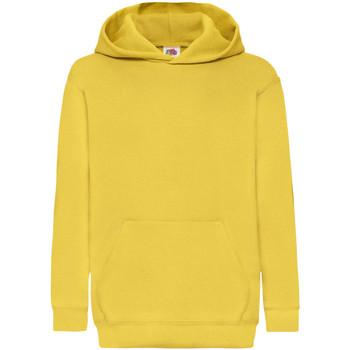 Textiel Kinderen Sweaters / Sweatshirts Fruit Of The Loom Hooded Zonnebloem