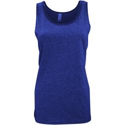 Textiel Dames Mouwloze tops Bella + Canvas Jersey Heide-Marineblauw