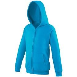 Textiel Kinderen Sweaters / Sweatshirts Awdis Hooded Hawaiiaans Blauw