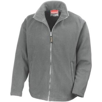 Textiel Heren Fleece Result Showerproof Lichtgrijs
