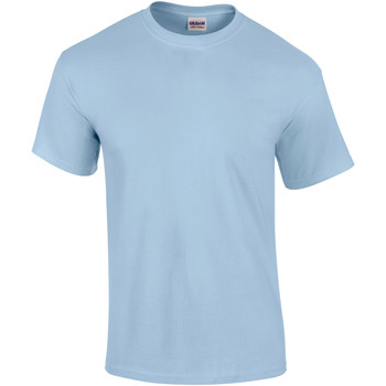 Textiel Heren T-shirts korte mouwen Gildan Ultra Lichtblauw