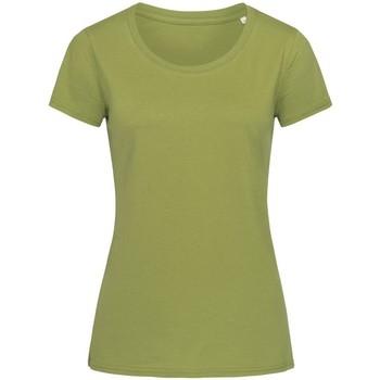 Textiel Dames T-shirts korte mouwen Stedman Stars Organic Groen