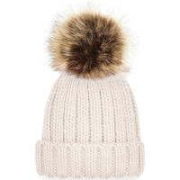 Accessoires Kinderen Muts Beechfield Pom Pom Havermout