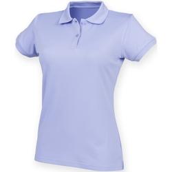 Textiel Dames Polo's korte mouwen Henbury Coolplus Lavendel
